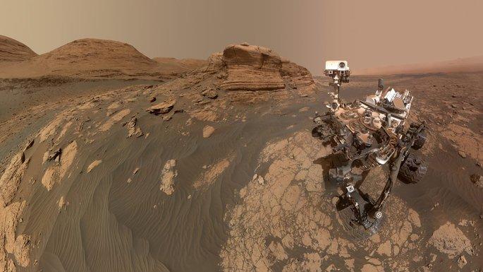 Фотография марсоход на Марсе, селфи марсохода Curiosity миссии НАСА март 2021 г, фото NASA