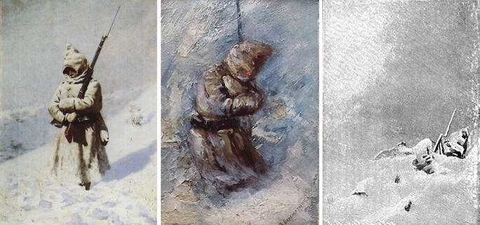 Триптих На Шипке всё спокойно Верещагин 1877-1878