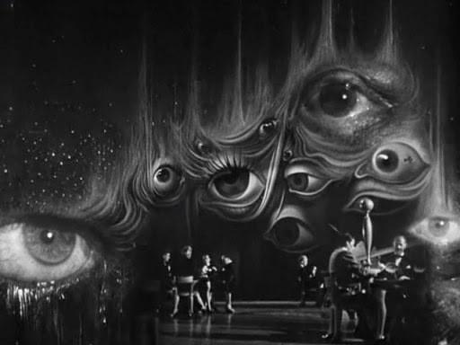 Кадр из последовательности снов, разработанный Сальвадором Дали, фильм 'Заворожённый', Режиссёр: Альфред Хичкок, 1945 г.,