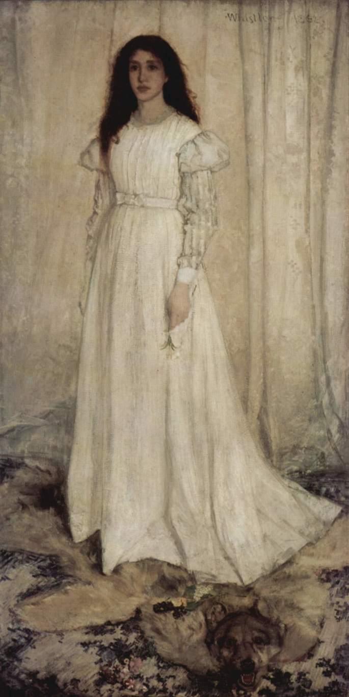 Симфония в белом №1, девушка в белом, Джеймс Эббот Мак-Нейл Уистлер, 1862 г.