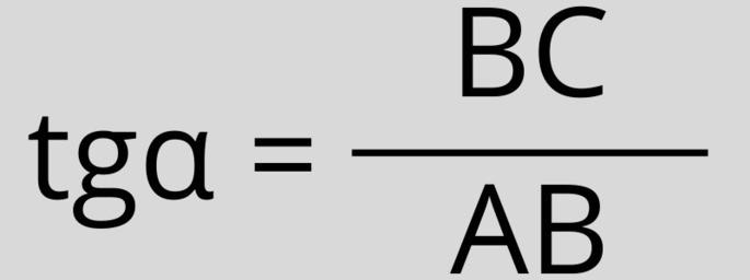 tgα = BC / AB