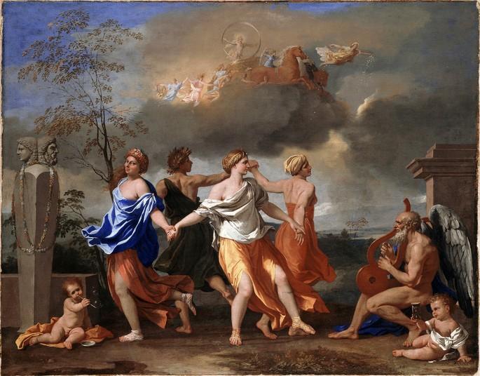 Никола Пуссен 'Танец под музыку времени', 1634 г.