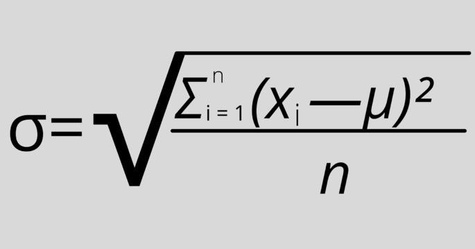 Формулы вычисления стандартного отклонения sigma сигма стандартное отклонение формула, среднее квадратичное отклонение формула, среднеквадратическое отклонение формула, среднее квадратическое отклонение формула