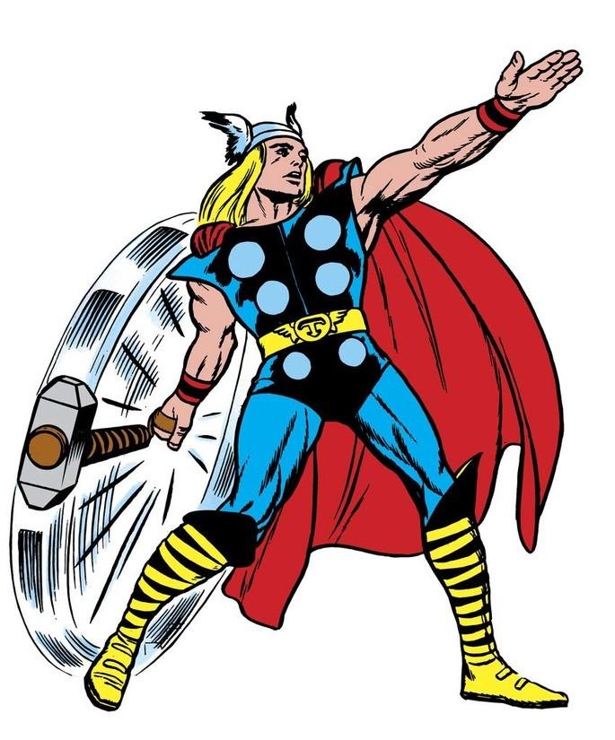 Тор бог скандинавской мифологии комикс бог с молотом