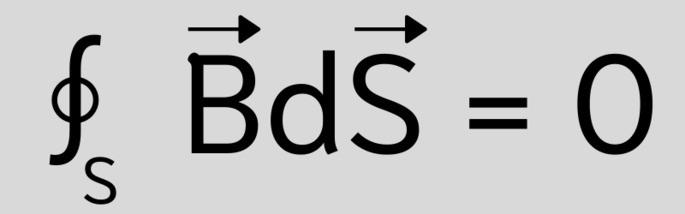 Третье уравнение Максвелла в интегральной форме: ∮BdS = 0
