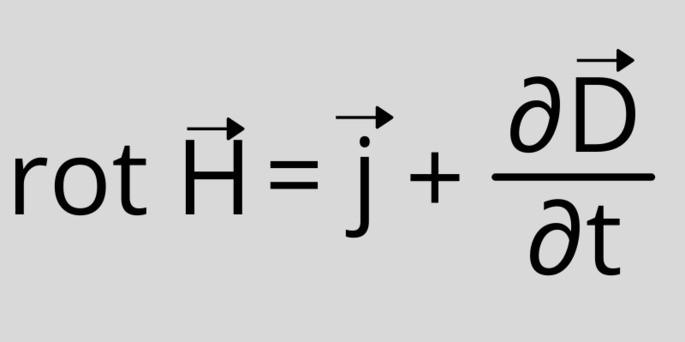Четвёртое уравнение Максвелла (в дифференциальной форме): rot H = j + ∂D/∂t)