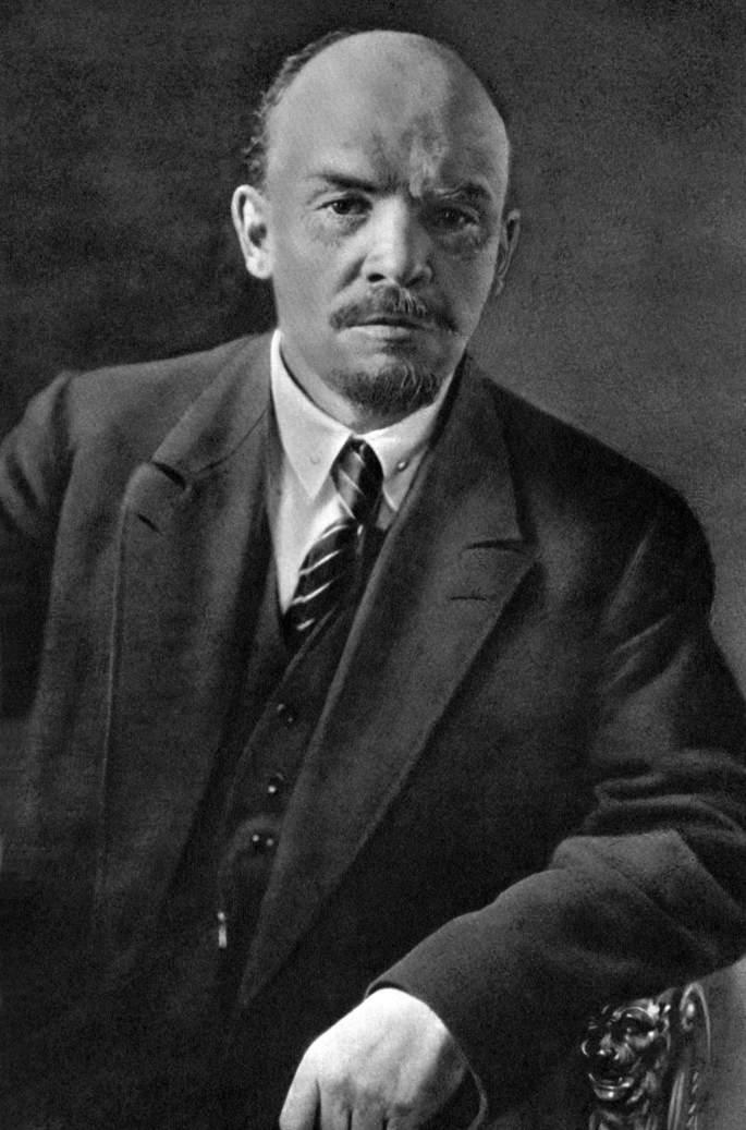 Черно-белая фотография Владимир Ильича Ленина