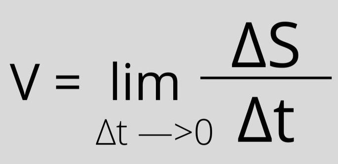 V = lim ΔS/Δt