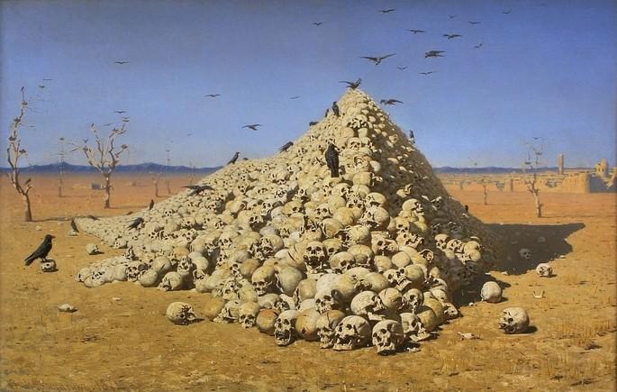 Картина Василия Васильевича Верещагина 'Апофеоз войны', 1871 г.