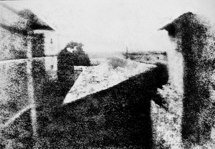 'Вид из окна в Ле Гра', Жозеф Нисефор Ньепс
