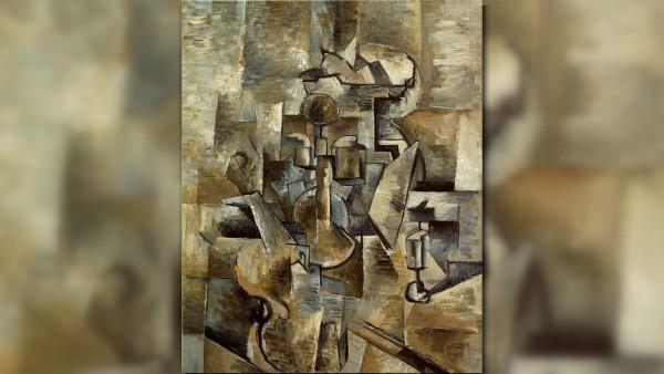 Скрипка и подсвечник Жорж Брак кубизм