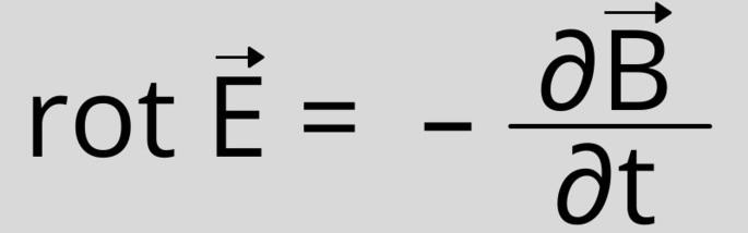 Второе уравнение Максвелла (в дифференциальной форме): rot E = — ∂B/∂t