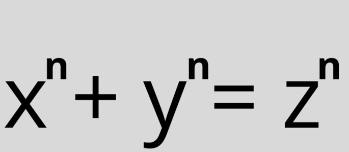 x^n + y^n = z^n Уравнение Великой теоремы Ферма